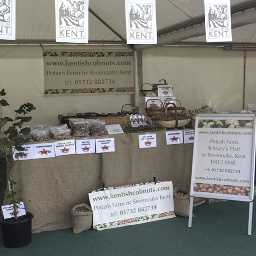 Potash Farm stall at the International Food and Drink Festival in Canterbury.