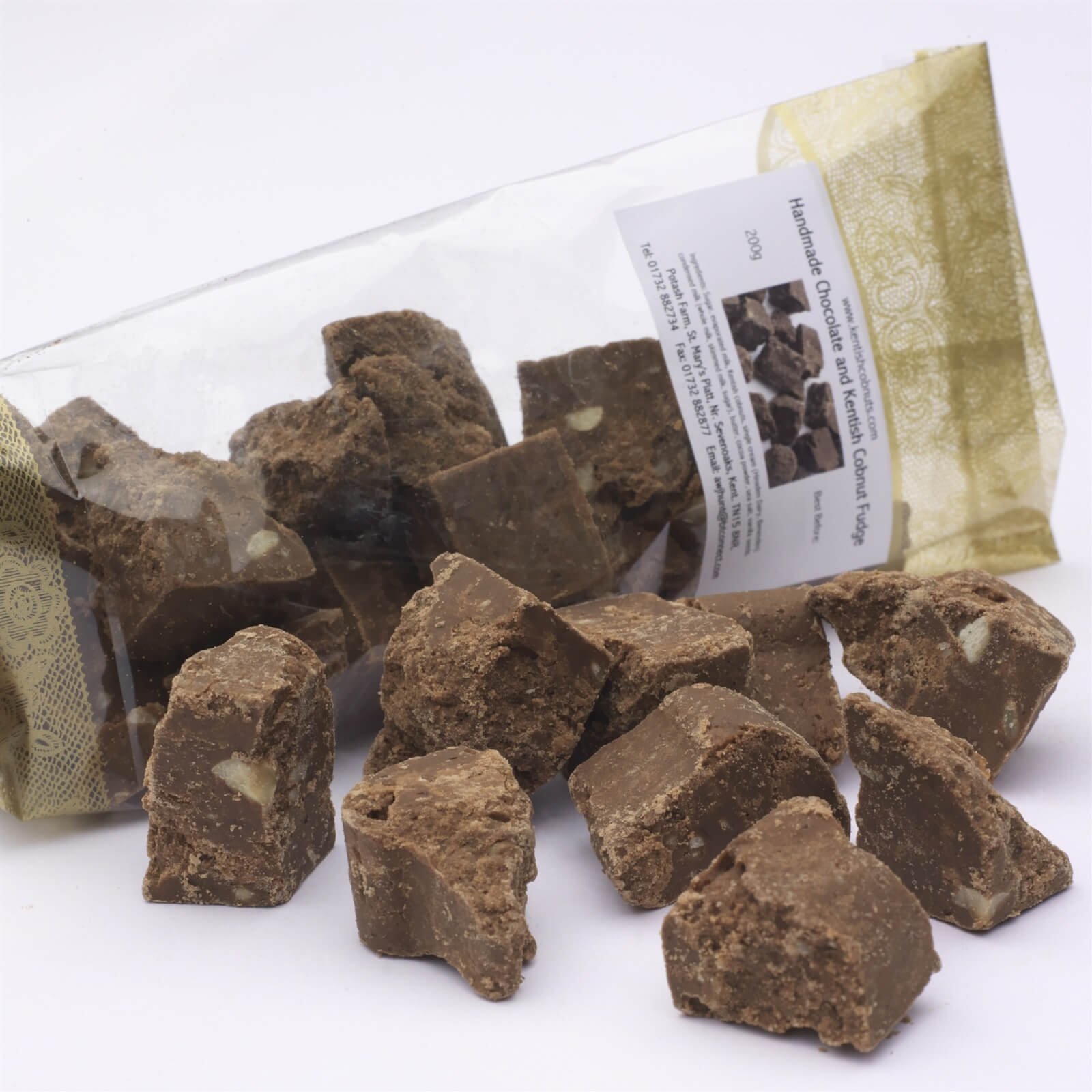 """Gregg Wallace, Daily Mail - """"One of my favourite producers, Potash Farm from my home county, Kent, has produced a deliciously decadent Chocolate and Kentish Cobnut Fudge. Not too sugary, the little crunchy pieces of nut with the soft fudge is a lovely combination of textures and flavours"""""""