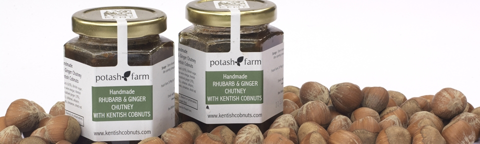 "Featured in the Telegraph Magazine. - ""The Potash Farm Rhubarb and Ginger Chutney with Kentish Cobnuts. Rich with fruit and slightly crunchy from the Cobnuts. Unlike any chutney I've had."""