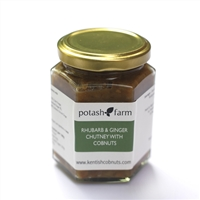 Handmade Rhubarb and Ginger Chutney with Kentish Cobnuts