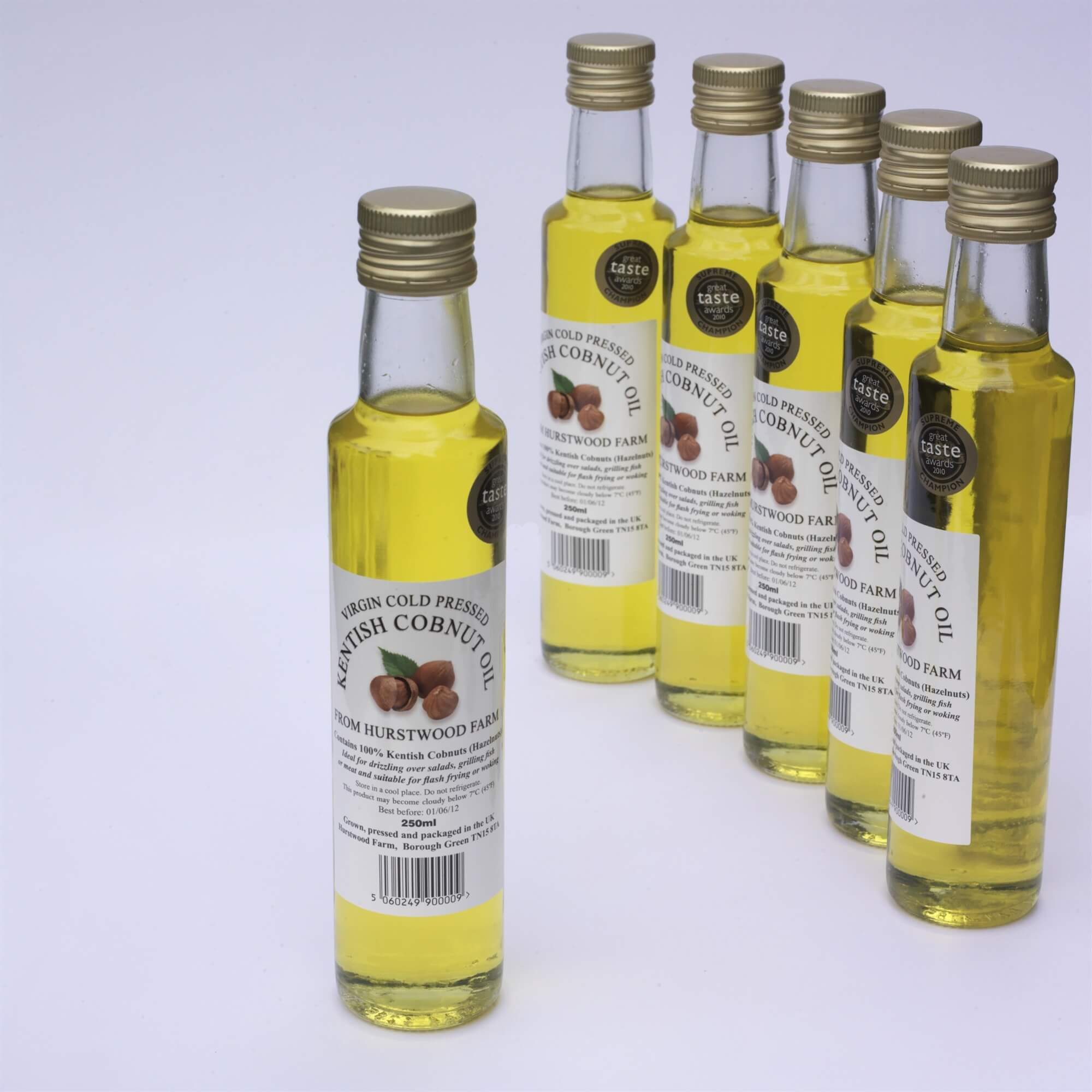 Virgin Cold Pressed Kentish Cobnut Oil - Our Kentish Cobnut Oil has featured on ITV Ade In Britain, BBC The Hairy Bikers, and ITV The Hungry Sailors.