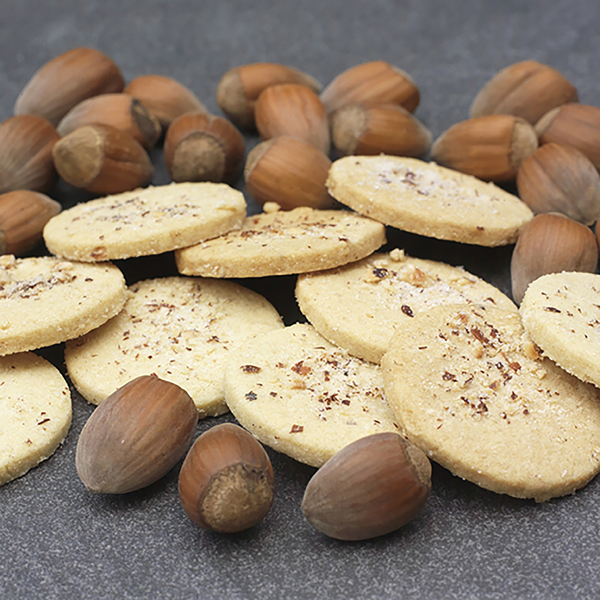 "Gregg Wallace, Telegraph Magazine - ""Cobnuts are a type of hazelnut that, once dried, have a lovely sweet flavour... and they taste superb in this lovely, buttery Handmade Kentish Cobnut Shortbread from Potash Farm in Kent"""