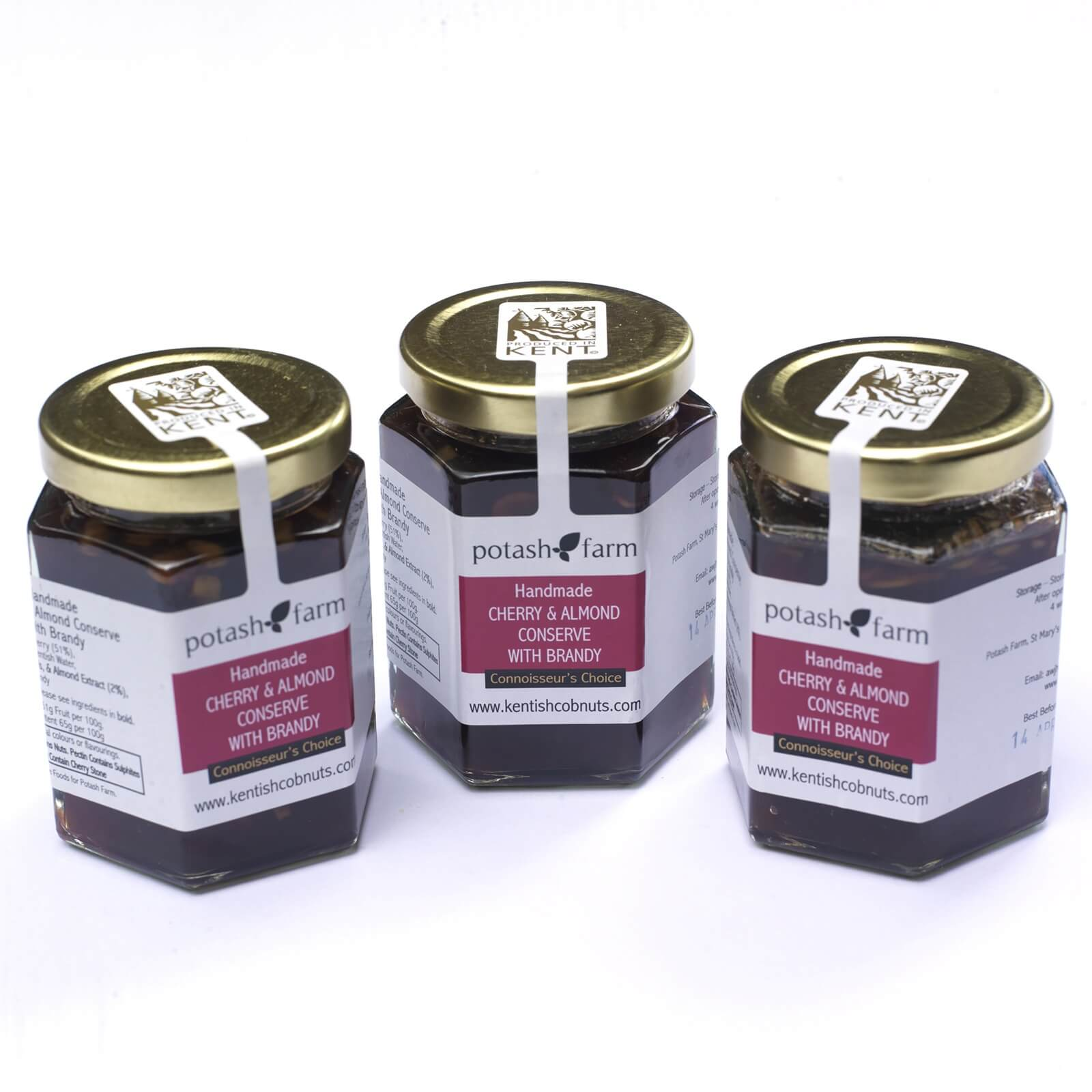 Cherry and Almond Conserve with Brandy - This luxury handmade connoisseur's choice conserve is made with the finest of ingredients and is a real treat to have on a lazy Sunday morning.
