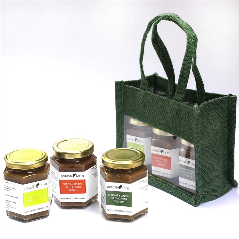 The Spicey Apple, Rhubarb and Ginger, and Spicey Onion Gift Bag