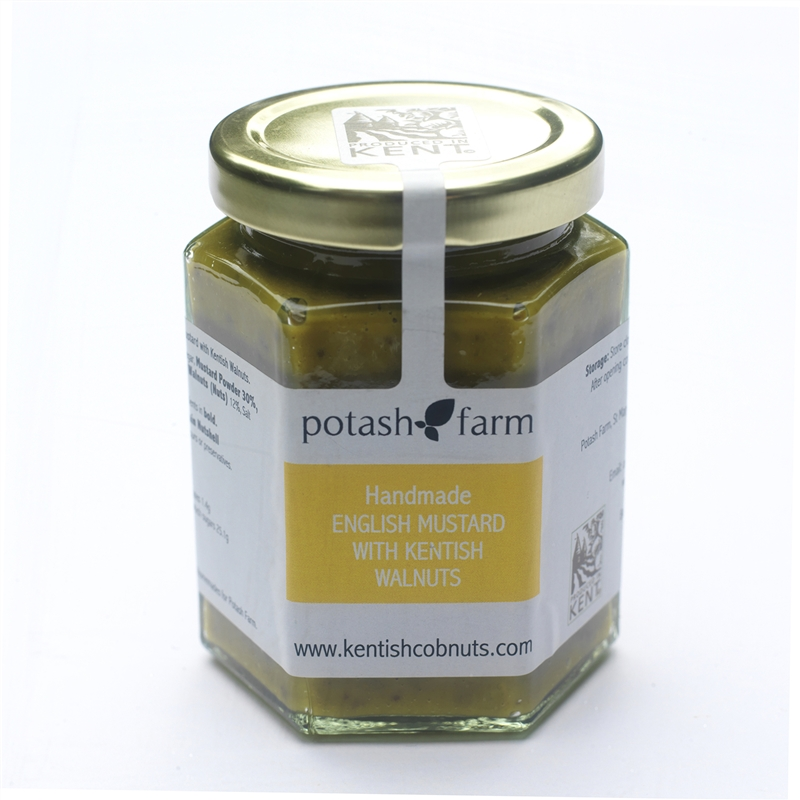 Handmade English  Mustard With Kentish Walnuts