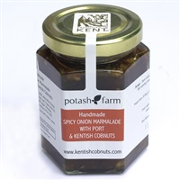 Handmade Spicy Onion Marmalade with Port and Kentish Cobnuts