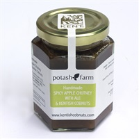 Handmade Spicy Apple Chutney with Ale and Kentish Cobnuts