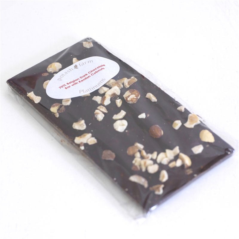 Belgian Dark Chocolate Bar with Kentish Cobnuts